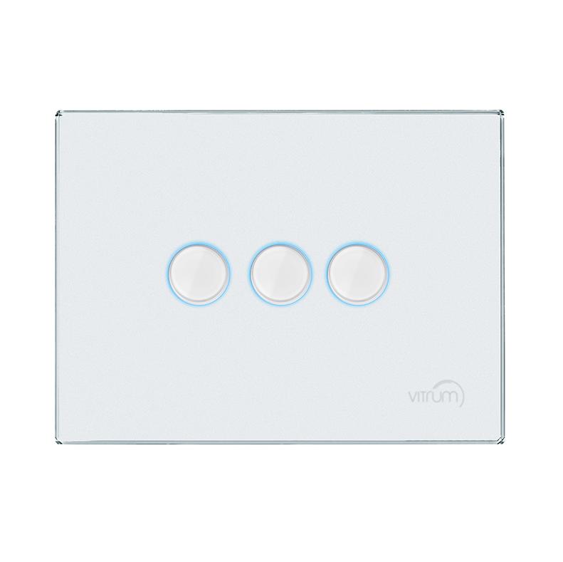 Vitrum EU III Lighting White Glass Etched