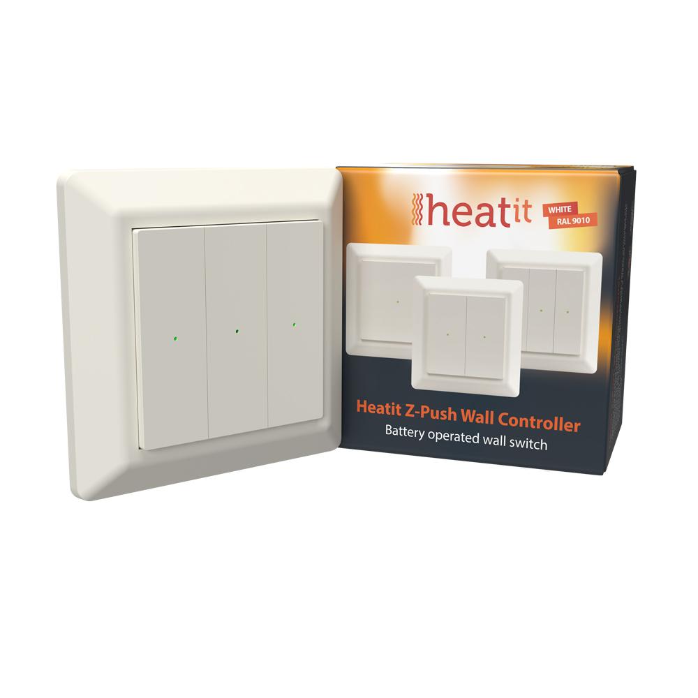 Heatit Z-Push Wall Controller (crème wit)