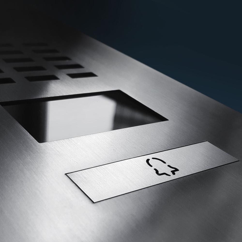 Doorbird IP Video Door Station D2101V Stainless steel V4A, brushed, PVD coating Titanium