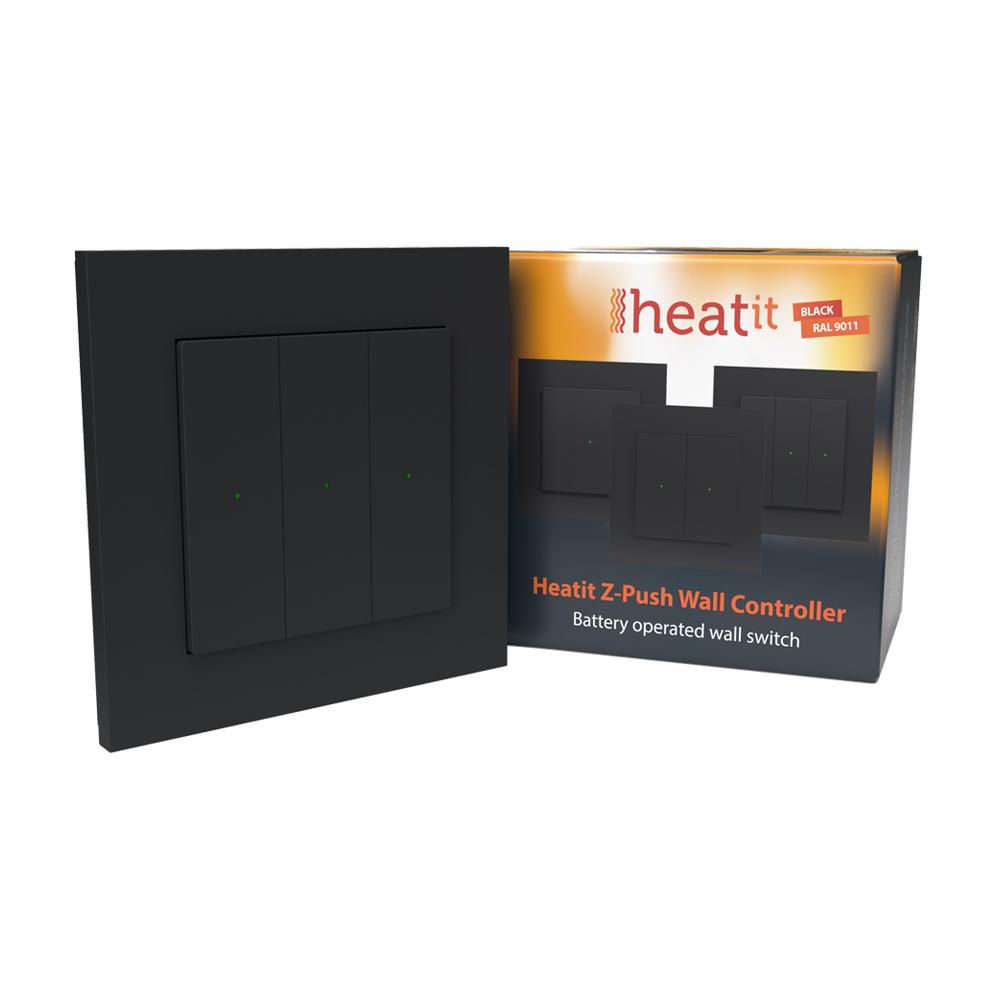 Heatit Z-Push Wall Controller (zwart)