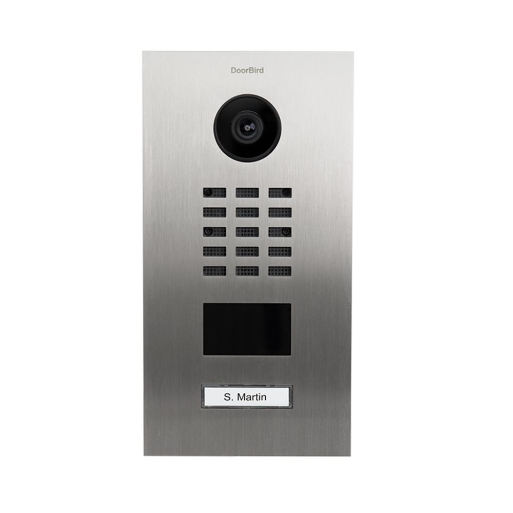 Doorbird IP Video Door Station D2101V Stainless steel brushed