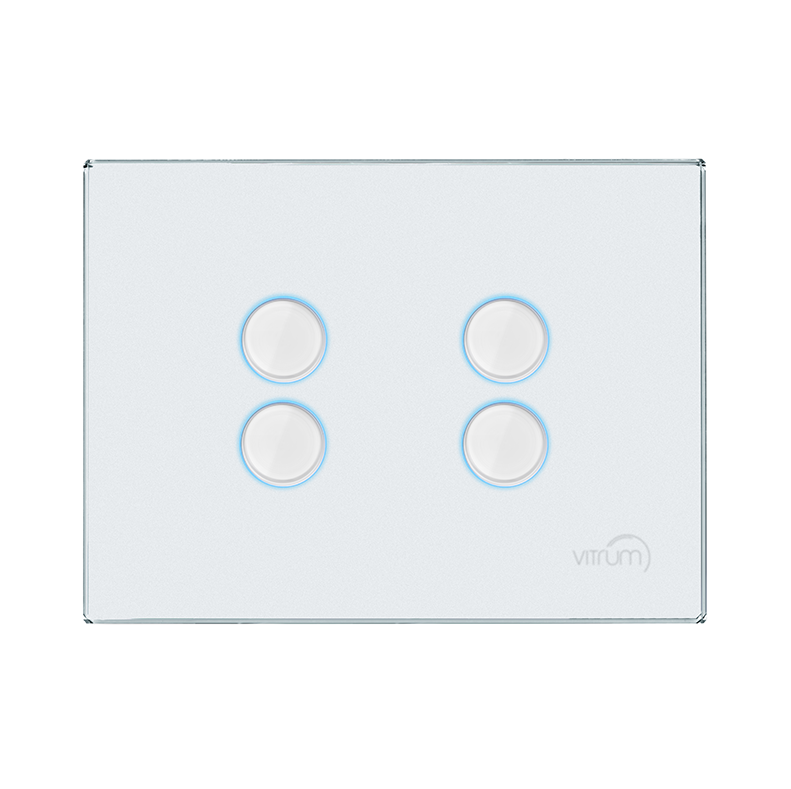 Vitrum EU IV Lighting White Glass Etched